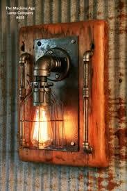 diy industrial lighting. steampunk industrial barn wood wall sconce light lamp 659 diy lighting