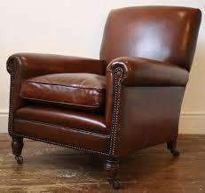 english leather club chair