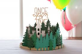 Once Upon A Time Cake Topper And Storybook Forest Cake Ring Cricut