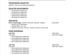 Resume Templates Examples Of Career Accomplishments To Put On