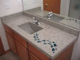 nick coello of concrete interiors created this 6 foot by 26 inch concrete bathroom countertop in one seamless precast piece show caption hide caption