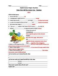 bill nye science guy nutrition video worksheet key fun knowledge