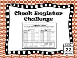 Personal Financial Literacy - Check Register Challenge | Tpt