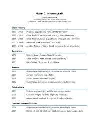 Simple Resume Templates Simple Underline Resume Template Simple