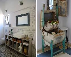 rustic chic bathroom ideas. Bathroom Decorating With Recycled Items Outdoor Ideas From Junk Rustic Chic I