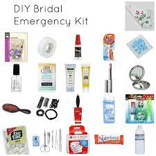 day of wedding bridal emergency kit diy