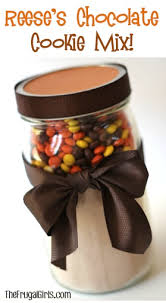 reeses pieces chocolate cookie mix in a jar from thefrugals this