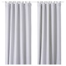 Curtains Vilborg Curtains 1 Pair Light Grey 145x250 Cm Ikea