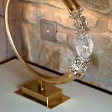 modern swarovski crystal gold table lamp juliettes interiors