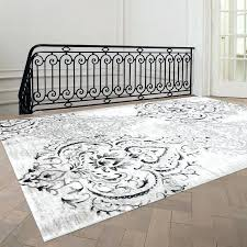 fleur de lis area rug grey white rugs bed bath and beyond