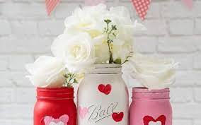 cute spray painted mason jars with hemp roses