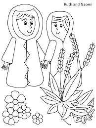 Small Picture Ruth and Naomi coloring page RUTH AND NAOMI Pinterest Sunday