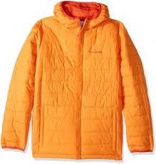 Columbia Big Boys Powder Lite Puffer Jacket Solarize Large