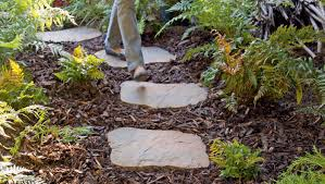 garden paths and stepping stones. garden paths come in many styles from stepping stone to with landscape stones and