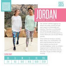 Lularoe Jordan Athletic Pant Size Chart Lularoe Size