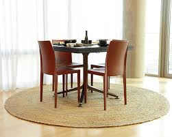 image of dining 8 foot round rug