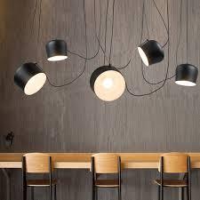 industrial dining room lighting. diy vintage retro black pendant lights for dining room aluminum drum designer industrial hanging lamp lighting t