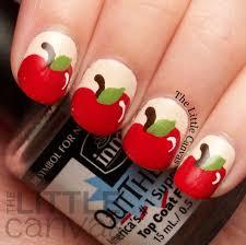 The Beauty Buffs: Fall Theme: Apple Nail Art - The Little Canvas