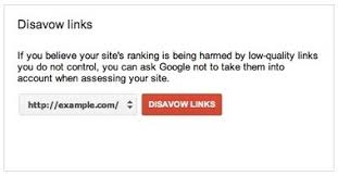 Disavowing links through Google lets you avoid a penalty