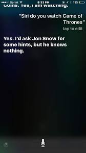 Siri Quote Custom Siri 'Game Of Thrones' Jokes What To Ask Siri For 'GoT' Answers
