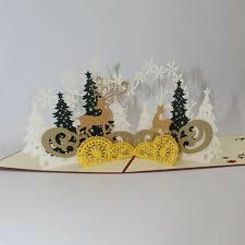 Diy Light Up Greeting Card Led Light Music 3d Pop Up Greeting Cards Christmas Postcard