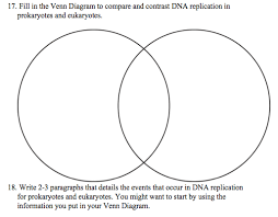 A Venn Diagram Of Prokaryotic And Eukaryotic Cells Solved 17 Fill In The Venn Diagram To Compare And Contra