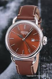 trend watch rakuten global market 14600979 coach watch classic 14600979 coach watch classic classical music brown brown leather strap men coach coach