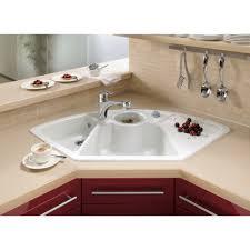 ... Astounding Kitchen Decoration Ideas Using Corner Kitchen Sinks :  Fascinating Kitchen Decoration Ideas Using White Corner ...