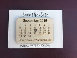 details about personalised wood engraved calendar save the date cards fridge magnets