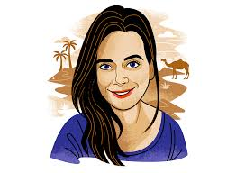 Contributor illo- Abby Tucker by Lucie Rice on Dribbble