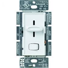 Lutron Dimmer Compatibility Chart Lutron Skylark Dimmer For Led Incandescent Halogen Bulbs Switch Single Pole Or 3 Way White
