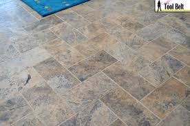 Travertine Tile Kitchen Floor Silver Travertine Tile Herringbone Floor Tutorial Her Tool Belt
