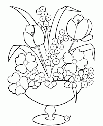 Flower Vase Coloring Page - aecost.net | aecost.net