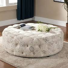 round leather ottoman coffee table tufted with legs small rectangular cocktail o