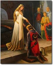 knights oil painting knight oil painting the accolade by leighton