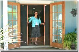 patio doors with screens.  With Retractable Screen For Outswing Patio Door Throughout Patio Doors With Screens