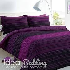 pieridae textured purple stripe duvet quilt bedding cover and pillowcase bedding set duvet sets complete bedding sets bed sheets pillowcase
