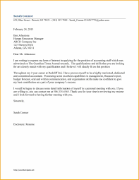 Gallery Of Sample Cover Letter For Any Vacant Position Examples