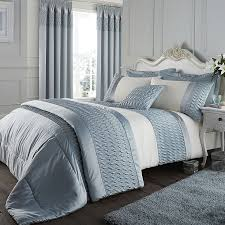Duvet Covers & Pillowcases – Next Day Delivery Duvet Covers ... & Catherine Lansfield Quilted Satin Duvet Cover Set in Duck Egg Sticker Adamdwight.com
