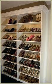 diy shoe rack for closet nice custom ideas home design