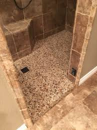 pebble tile for shower floor cleaning designs