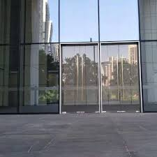 stainless steel tempered glass commercial entry glass door