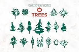 Christmas Tree Svg Set Tree Svg Design Graphic By Ilonitta R Creative Fabrica