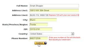 update your amazon shipping address