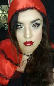 i have another look for you a clic glam little red riding hood look with a twist the second half is little red with a scratch tr