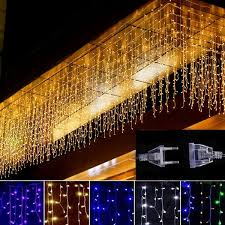 <b>5M</b> Christmas <b>LED</b> Curtain <b>Icicle</b> String Light Droop 0.4-0.6m <b>LED</b> ...