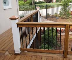 wood deck railing designs diy