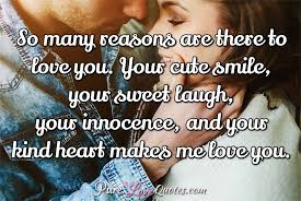 Love Quotes For Her From The Heart Interesting 48 Sweet And Cute Love Quotes For Her For All Occasions PureLoveQuotes