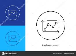 Stock Chart Art Business Chart Line Art Icon Investment Trading Vector Art