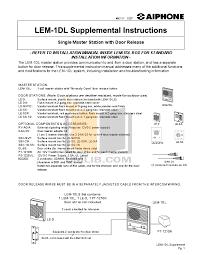 aiphone lem 1 manual open source user manual \u2022 Door Chime Wiring-Diagram download free pdf for aiphone lem 1 intercoms other manual rh umlib com aiphone le ssr aiphone le ssr